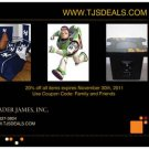 20% off Gift Card Coupon Certificate TJSDeals.com