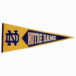 "Notre Dame Fighting Irish NCAA Traditions"" Pennant (13"" X 32"")"