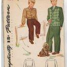Vintage 1940s Simplicity 4791 BOYS Lumber Jacket & JACKET Vintage Sewing Pattern