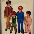 Simplicity 9651 70s BOYS JACKET, PANTS & Reversible VEST Vintage children's Sewing Pattern