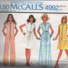 McCall's 4992 70s UNCUT Dress Jacket Skirt Pants Vintage Sewing Pattern