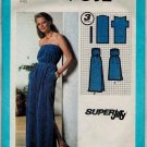 "Simplicity 9032 70s UNCUT/UNOPENED Misses' ""Super Jiffy"" PULLOVER DRESS Vintage Sewing pattern"