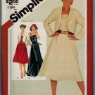 Simplicity 5318 80s UNCUT Super Summer Strappy Long DRESS & JACKET Vintage Sewing Pattern