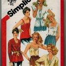 Simplicity 5352 80s *UNCUT* Misses' SET OF CAMISOLES & Jacket Vintage Sewing Pattern