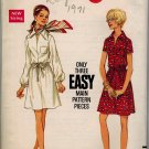 Butterick 5613 60s Misses' One Piece DRESS Vintage Sewing Pattern
