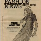 Butterick FASHION NEWS September 1976