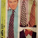 McCall's 2971 70s TIES &  BOW TIE Mens Vintage Sewing Pattern
