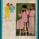 Simplicity 9249 70s NIGHTSHIRT, ROBE, PAJAMAS Vintage Sewing Pattern
