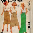 McCall's 6411 70s Vintage WRAP SKIRT Misses' Sewing Pattern