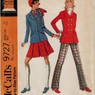 McCall's 9727 60s *Uncut VTG JACKET, SKIRT & PANTS retro Sewing Pattern