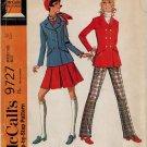 McCall's 9727 60s *Uncut VTG JACKET, SKIRT & PANTS retro Sewing Pattern