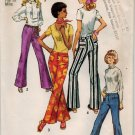 Simplicity 9069 70s MOD Hip-Hugger PANTS SLIM CUT Vintage Sewing Pattern