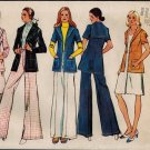 Simplicity 5453 70s Unlined JACKET, SKIRT & PANTS Vintage Sewing Pattern