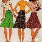 Simplicity 7910 70s WRAP SKIRT Vintage Sewing Pattern