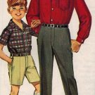 Simplicity 6606 60s Boy's PANTS/SHORTS & Button DownShirt Vintage Sewing Pattern