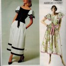 "Vogue 1690 UNCUT Vintage 80s Vogue ""American Designer"" Kasper DRESS Sewing Pattern"