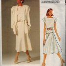 "Vogue 1387 Vintage 80s ""American Designer"" J. Anthony Unlined JACKET, SKIRT & TOP Sewing Pattern"