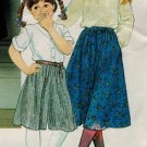 Vogue 2762 80s Girl's SKIRT & CULOTTES Vintage Sewing Pattern