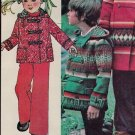 McCall's 5259 70s *UNCUT* Child's Hooded Blanket COAT or JACKET with Toggles Vintage Sewing Pattern