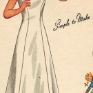 Simplicity 1958 40s Girl's SLIP, NIGHTGOWN, PAJAMA Vintage Sewing Pattern *UNCUT*