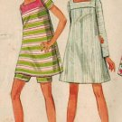 Butterick 4778 60s Young Junior Tent DRESS with SHORTS Funky Vintage Dress Pattern