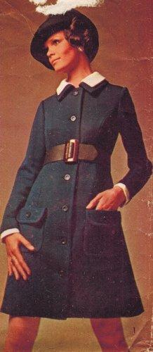 Simplicity 8443 60s Mod Designer Fashion COAT-DRESS Vintage Sewing Pattern