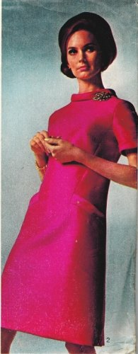 Simplicity 7193 60s Mod Designer Fashion A-LINE DRESS Vintage Sewing Pattern