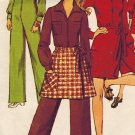 Simplicity 8455 60s Mod JUMPSUIT and MINI Wrap SKIRT Vintage Sewing Pattern