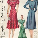 Simplicity 3100 1930s Ladies DRESS or HOUSECOAT Vintage Sewing Pattern *Uncut