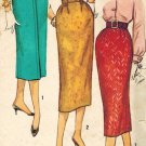 Simplicity 2196 50s PENCIL SKIRT Vintage Sewing Pattern