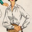 McCall's 4166 50s Fab BLOUSES  with button detail Vintage Sewing Pattern