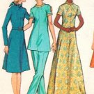 McCall's 3074 70s Half Size DRESS or TUNIC and PANTS Vintage Sewing Pattern * UNCUT & FF