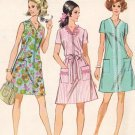 McCall's 9731 60s Half Size Mod A-LINE DRESS in 3 Versions Vintage Sewing Pattern * UNCUT