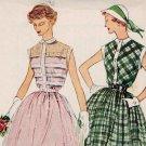 Simplicity 3252 50s feminine Tucked Sheer DRESS Vintage Sewing Pattern
