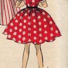 Advance 6492 50s J. Love Designer Girls' DRESS Vestee & Full Skirt Vintage Children's Pattern *UNCUT
