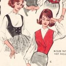 Butterick 9474 60s Misses' WESKIT/VEST Vintage Sewing Pattern