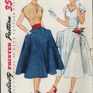 Simplicity 3927 50s Awesome Cuffed BLOUSE & Full SKIRT Vintage Sewing Pattern