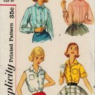 Simplicity 2470 50s Fab BLOUSE in 4 versions Vintage Sewing Pattern