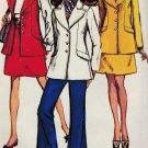 Simplicity 8115 60s*UNCUT Bell-Bottom PANTS, Sleeveless Jkt & Skirt Vintage Sewing Pattern  FF