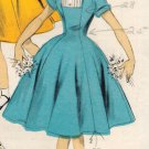 Advance 6808 50s Girls' Retro Princess DRESS with Peter Pan Collar Vintage Childrens' Pattern *RARE