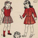 Advance 4701 40s Girls' JACKET, VEST, BLOUSE & SUSPENDER SKIRT Vintage Childrens Pattern