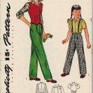 RARE Simplicity 1268 Vintage 40s SLACKS, WESKIT & BLOUSE Vintage Children's Sewing Pattern *Uncut
