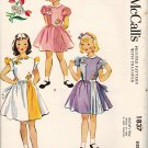 McCall's 1837 50s Uncut Girl's PARTY DRESS with pleated inset details, Vintage Pattern * FF