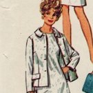 Simplicity 8462 60s Half Size DRESS, JACKET & SCARF Vintage Sewing Pattern