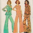 Simplicity 6668 70s Half Size SHIRT-JACKET, TOP & WIDE LEG PANTS Vintage Sewing Pattern