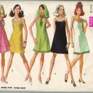 Simplicity 8241 60s Mod Shoulder Strap A-Line DRESS w/trim variations Vintage Sewing Pattern