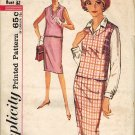 Simplicity 4953 60s Mad Men/Pan Am Slim SKIRT, BLOUSE & TOP Vintage Sewing Pattern