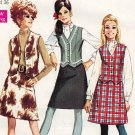 Simplicity 7808 60s *UNCUT & FF Classic SKIRT, VEST and BLOUSE Vintage Sewing Pattern