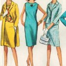 Simplicity 6309 60s Mad Men Era COAT, DRESS or TOP. SKIRT & JACKET Vintage Sewing Pattern