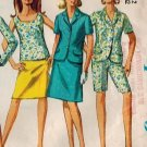 Simplicity 7019 60s SEPARATES: Slim PANTS, SKIRT & TOPS Vintage Sewing Pattern